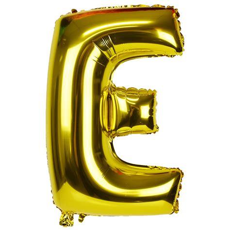Balon Foil I You 3 Tingkat 30 quot foil mylar balloon gold letter e