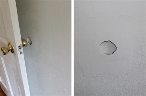 fix hole in wall how to repair a hole in a wall diy for the home