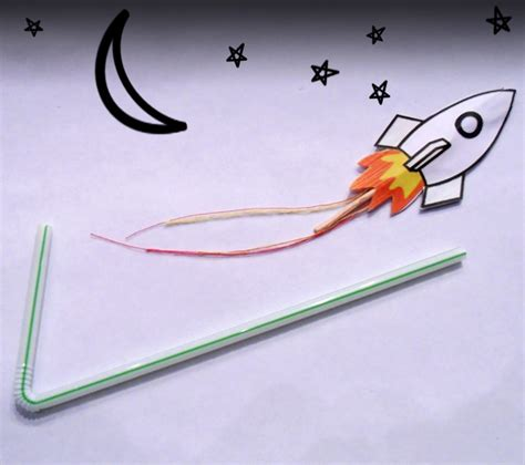 crafts bendy straw and paper rockets 187 dollar store