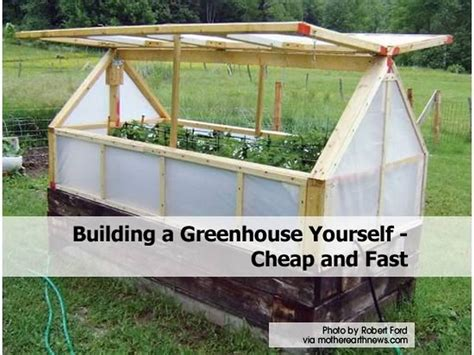 Small Homes To Build Yourself - building a greenhouse yourself cheap and fast