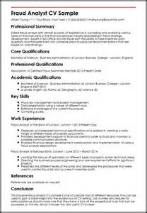 Fraud Analyst Sle Resume by Fraud Analyst Cv Sle Myperfectcv