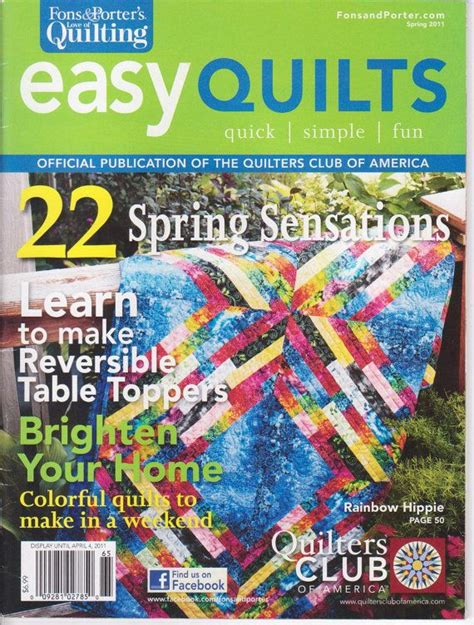 Quilts Magazine by Easy Quilts Magazine Simple By Fons And Porter