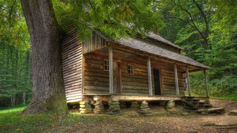 Cabin In Tbe Woods by Deserted Wooden Cabin In The Woods Wallpaper 1287826