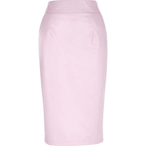 light pink pencil skirt light pink leather look pencil skirt tube pencil