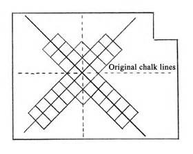 how to plan floor tile layout professional tile layout extreme how to