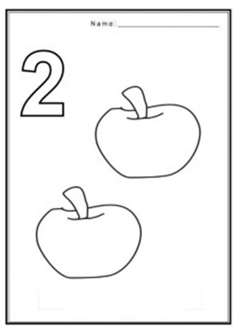 Number 2 Coloring Pages For Preschoolers by Free Coloring Pages Of Numbers With Fruits Crafts And