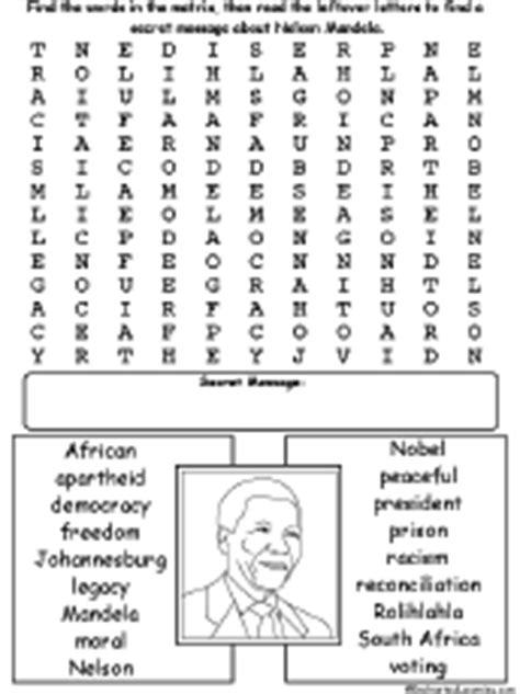 printable xhosa worksheets nelson mandela wordsearch enchantedlearning com
