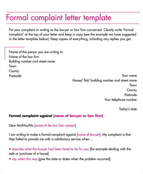Sle Complaint Letter Document Business Letter Complaint 28 Images Sle Business