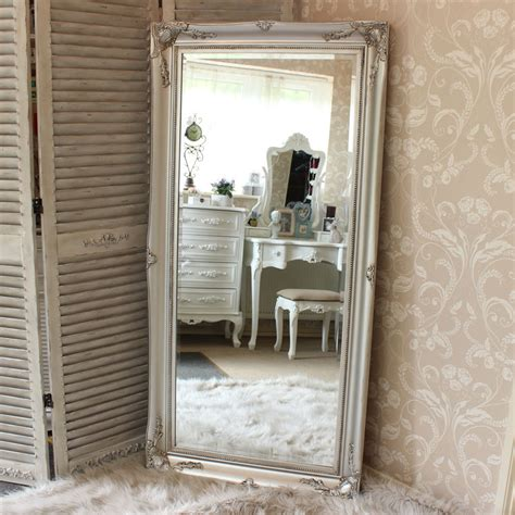 large ornate silver wall floor mirror melody maison 174