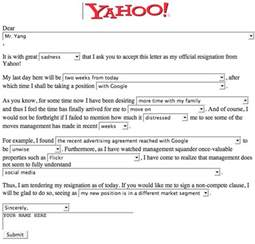 Fill In The Blank Resignation Letter by Which Svp At Yahoo Quit Today Techcrunch