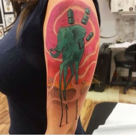 elephant tattoo salvador dali elephant tattoo designs best ideas meaning