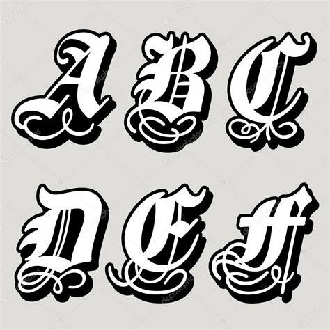 lettere maiuscole alfabeto gotico lettere maiuscole a b c d e f in uno