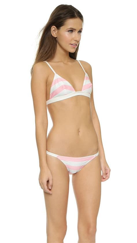Kaos Stripe Seli Top lyst solid striped the top pink white stripe