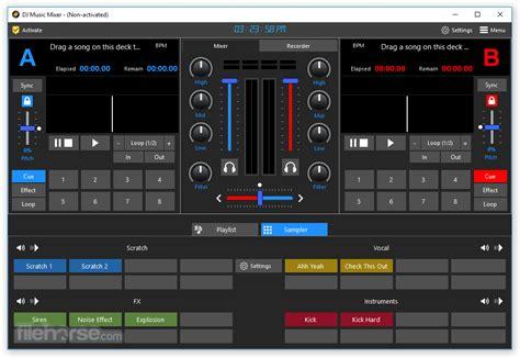 dj  mixer    windows  versions