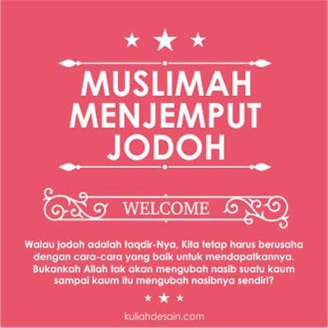 gambar kata kata muslimah menjemput jodoh