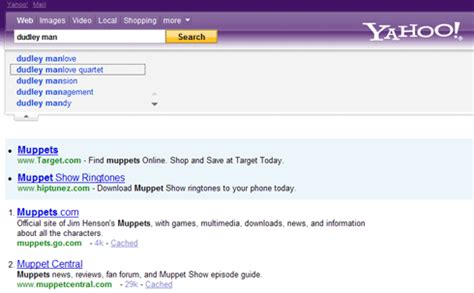 Yahoo Search Purple Yahoo And Search Engine Ui Testing Moz