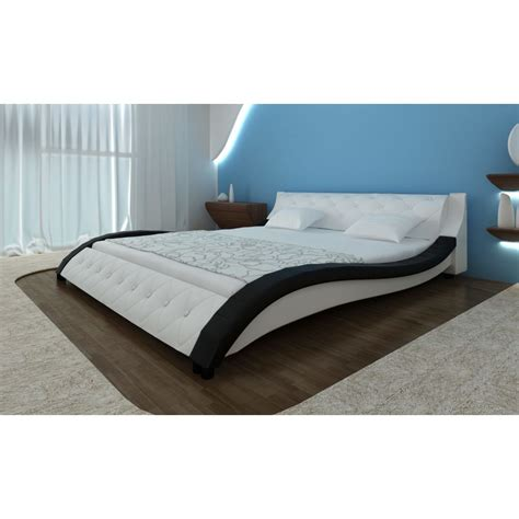 cm beds bed wave 180 cm black white www vidaxl com au