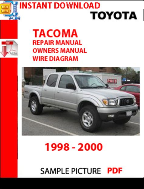 car repair manual download 2001 toyota tacoma xtra security system 2000 toyota tacoma factory service manual service repair autos post