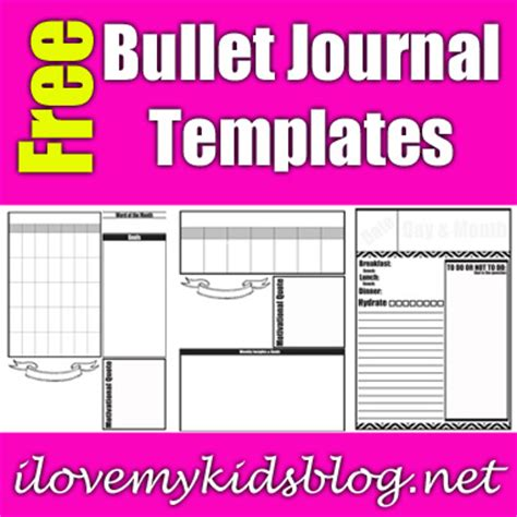 Three Free Bullet Journal Template Downloads To Help Ease The Burden Of Endless To Do Lists Free Bullet Journal Templates