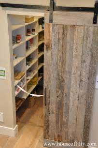 barn doors for pantry pantry barn door cottage kitchen house of fifty