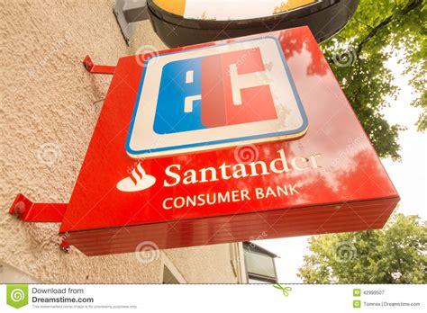 santander bank rosenheim santander ec editorial photography image 42999507