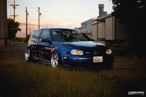 stanced volkswagen golf stanced volkswagen golf r32 mk4 front
