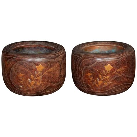 Decorative Inlays by Wood Hibachis With Decorative Inlays For Sale At 1stdibs