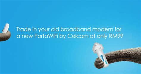 Modem Celcom Portawifi goodyfoodies celcom portawifi trade in promotion