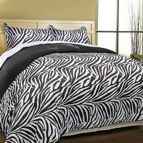 luxury zebra microfiber  piece duvet cover set  shipping today overstockcom