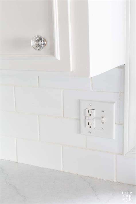 white backsplash tile for kitchen kitchen subway tile backsplash in my own style