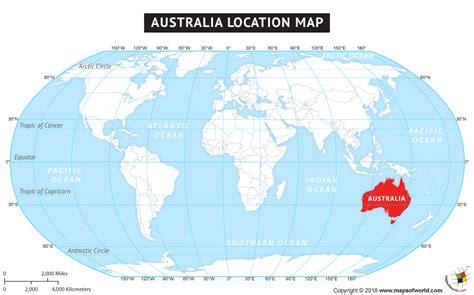 australia australia location   world map