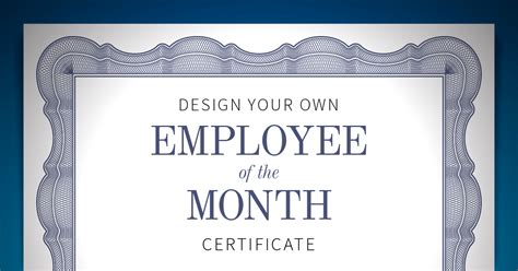 employee of the month certificate template free employee of the month certificate when i work