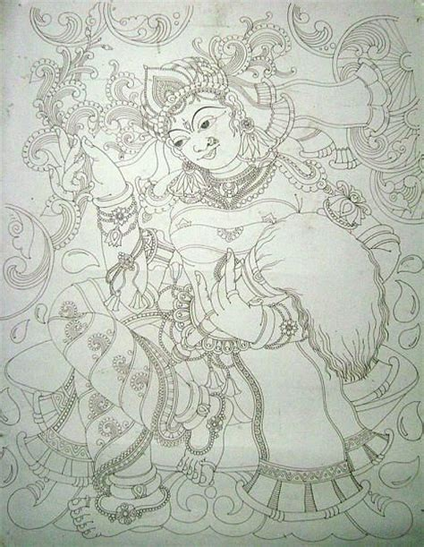 Mural Designs Outline by Pin By Asha Rani On Kerala Mural