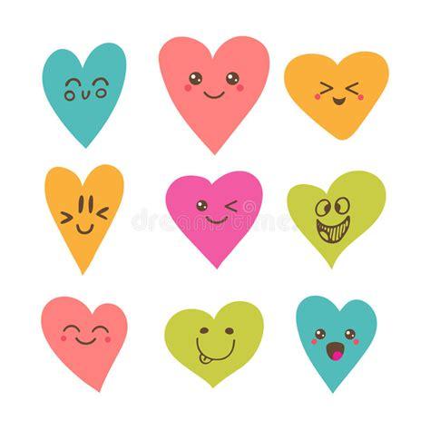 imagenes de corazones encadenados corazones sonrientes felices divertidos personajes de