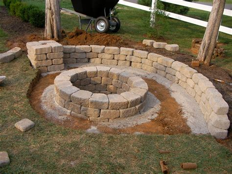 Backyard Hill Landscaping Ideas Creatively Luxurious Diy Fire Pit Project Here To Enhance