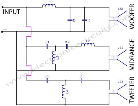 3 way crossover schematic for crossover wiring diagrams