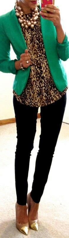 what color goes with leopard print for convention the animal print top paired