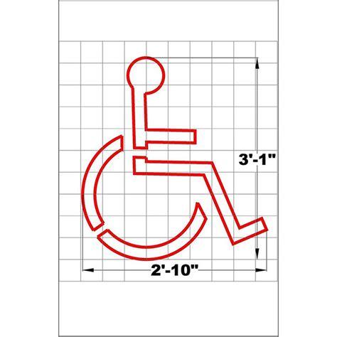ada handicapped parking pavement marking symbol