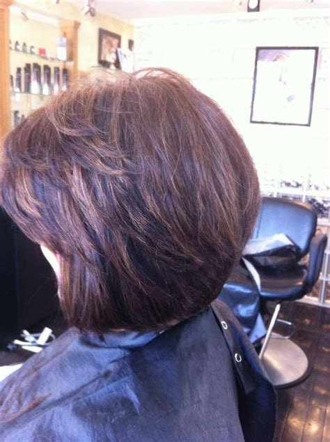 layered bobs with highlights brunette with caramel highlights layered bob with side