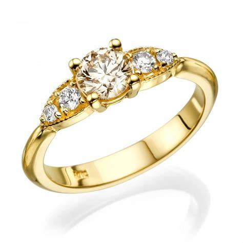 unique engagement ring chagne engagement ring