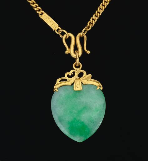 a 24k gold chain and jade pendant 10 31 14 sold