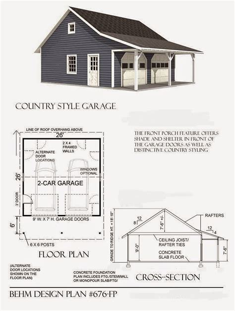 Country Garage Plans by Garage Plans Behm Design Garage Plan Exles