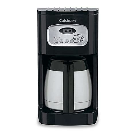 cuisinart coffee maker bed bath beyond cuisinart 174 10 cup programmable thermal coffee maker bed