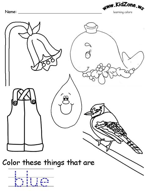 25 Best Ideas About Color Blue Activities On Pinterest Blue Coloring Page