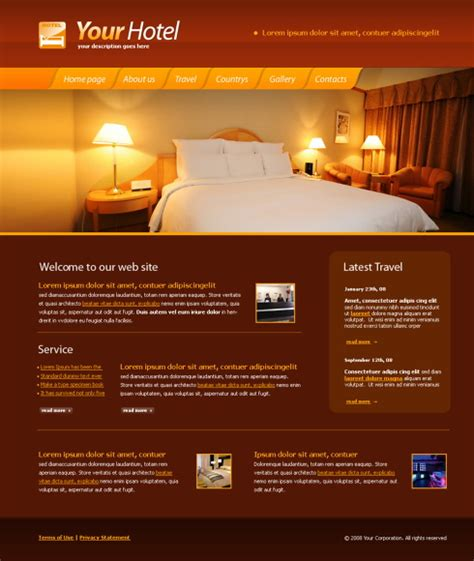 5591 Travel Hotel Website Templates Dreamtemplate Hotel Website Templates