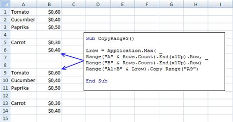 excel 2007 xlsm format copy a cell range whose size is likely to change from time