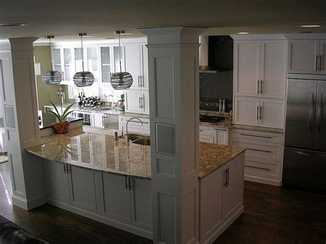 kitchen island with columns home pinterest