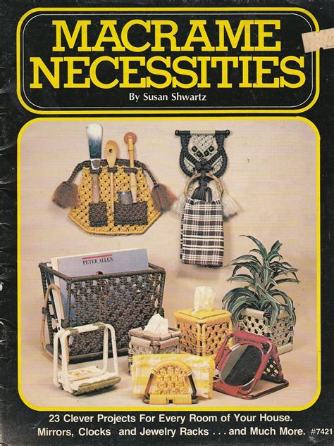 Macrame Magazine - macrame necessities pattern booklet 23 projects mirrors