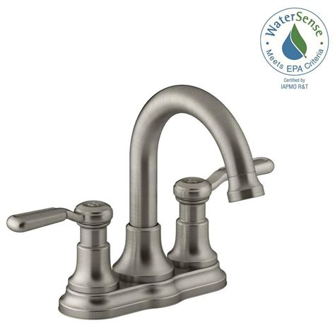 kohler bathtub faucet kohler worth 4 in centerset 2 handle bathroom faucet in