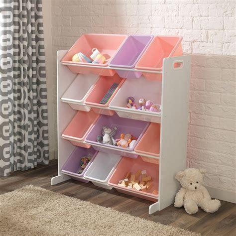 Kinderzimmer Regal Mit Boxen kidkraft 174 regal mit aufbewahrungsboxen f 252 r kinderzimmer